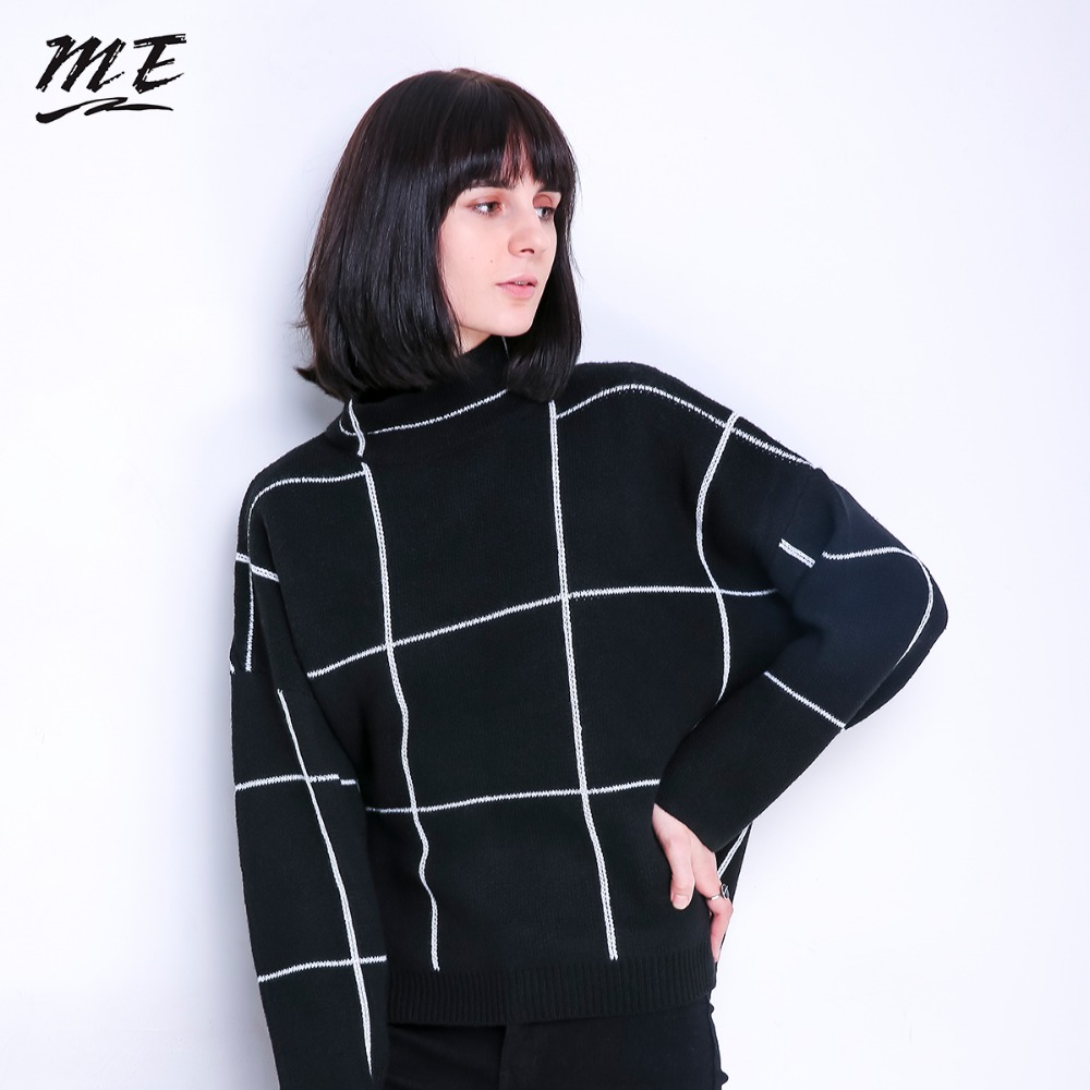 Women Sweater Pullovers Turtleneck Knitted Long Sleeve Winter Vintage Loose Sweaters Casual Elastic Oversized Pullovers