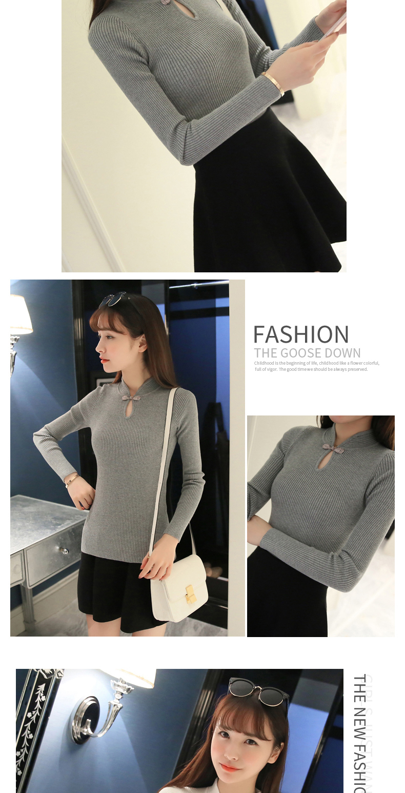 OHCLOTHING Hot 2017 Winter New Fashion Thickened half turtleneck sweater short female thread tight all-match solid new shirt