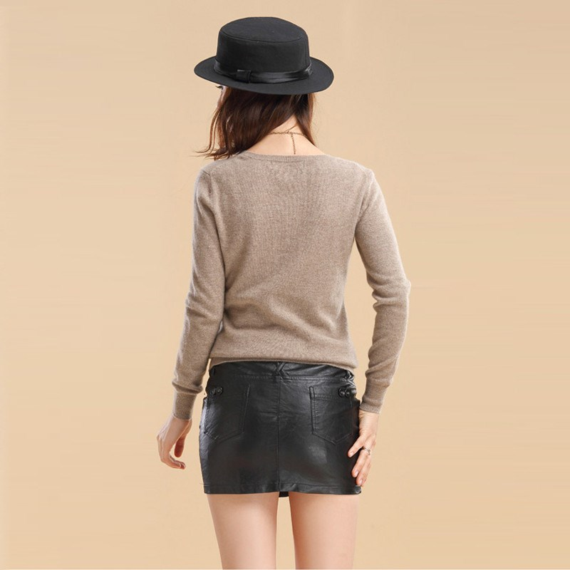 Hot selling New arrival women's Sweater Wool Sweater Female round neck  pullover Knit Cashmere Sweater cultivating wild