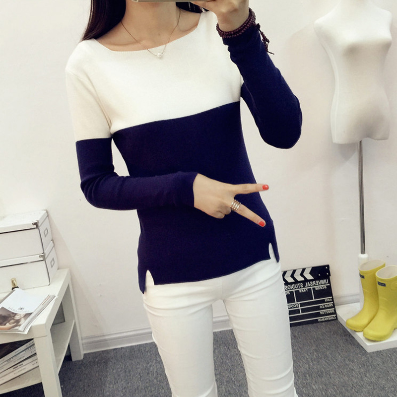 Autumn Winter Sweater Women Knit High Elastic Jumper Women Sweaters And Pullovers Female Pull Femme Tops Jersey