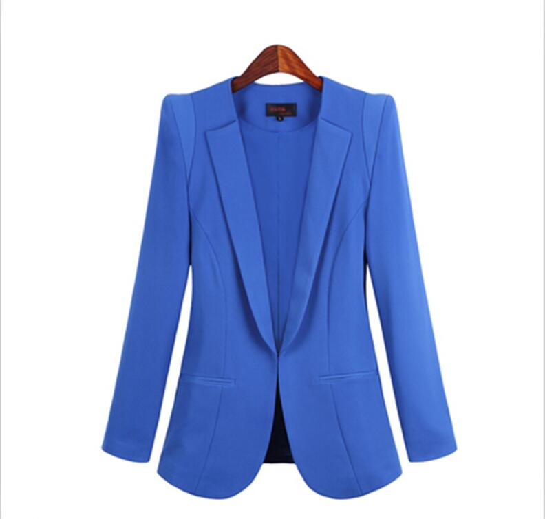 New Plus Size Womens Business Suits Spring Autumn All-match women Blazers Jackets Short Slim long-sleeve Blazer Women Suit