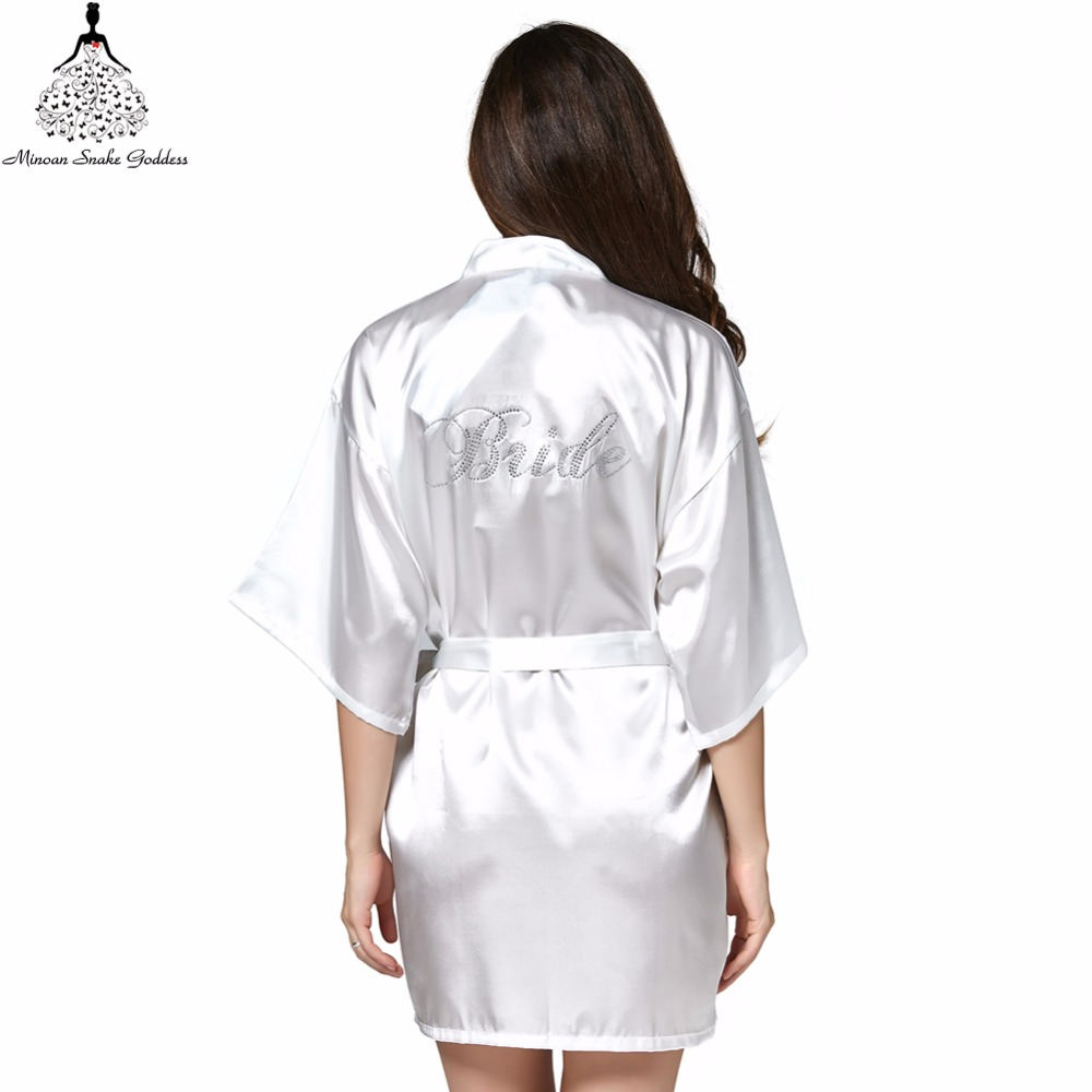 Bridesmaid robes Sleepwear Robe Wedding Bride Bridesmaid Robes Pyjama Robe Female nightwear Bathrobe Nightdress Nightgowns