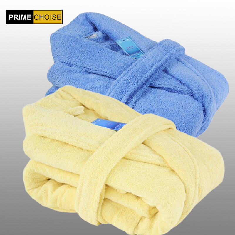 female thickening 100% cotton bathrobes male women's lovers bathrobe