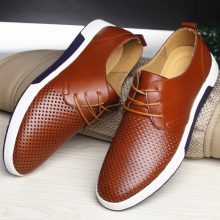 Casual Leather Summer Breathable Flat Shoes (6 colors)