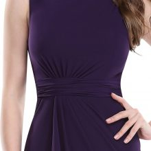 Mermaid Purple Evening Dresses Long Formal Evening Gowns Ever Pretty Women's Elegant Sleeveless Evening Dress.
