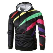 Harajuku Solid Colorful Printing Long Sleeve Hoodies