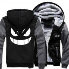 Pokemon Gengar Pocket Monsters Jacket Sweatshirts Zipper Hoodie