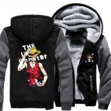 ONE PIECE Portgas D Ace Monkey D Luffy Cosplay Zipper Jacket Thicken Hoodie