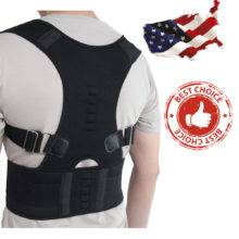 Magnetic Therapy Posture Corrector Brace Shoulder Back Support Belt