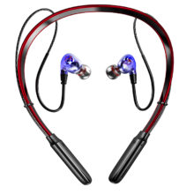 Wireless Headphones 3D Stereo Sport Earbuds Neckband With Microphone