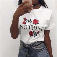 Love Printed T-shirt Short Sleeve Tops Tee For Women
