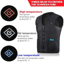 Heating Vest Jacket USB Infrared Waistcoat for Men Women Outdoor Fishing Hiking