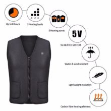 Heating Vest Winter Jacket Men Women Outdoor USB Infrared Flexible Electric Thermal Clothing Waistcoat For Sports Hiking