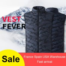 Electric Heated Vest Heating Waistcoat Thermal Warm Clothing Feather Winter Jacket