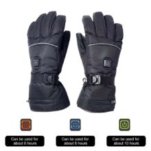 Electric Heated Gloves with Temperature Adjustment Gloves for Skiing Hiking Climbing Driving Cold Weather