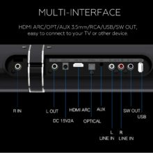 Home Theatre System Sound Bar, 50W HiFi Detachable Wireless Bluetooth Soundbar Speaker, 3D Surround Stereo Subwoofer