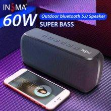 60W Wireless Bluetooth 5.0 Speaker, IPX5 Waterproof TWS 24H Playing Time Voice Assistant, Extra Bass Subwoofer Speaker