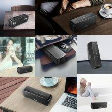 Bluetooth Wireless Speaker, Stereo Sound Boombox Speakers with Mic Support TF AUX TWS